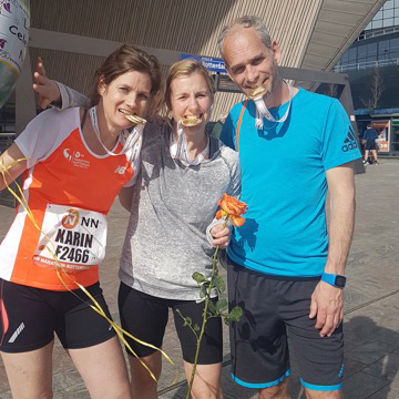 Anita & Karin, Rotterdam Marathon