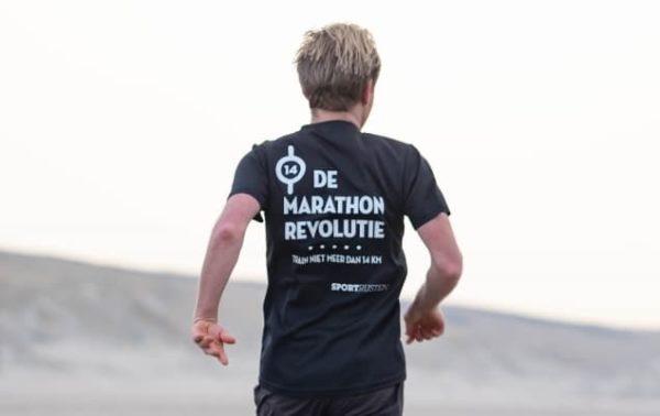 Sportrusten shirt De Marathonrevolutie - achterkant