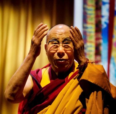 Dalai Lama en mediteren