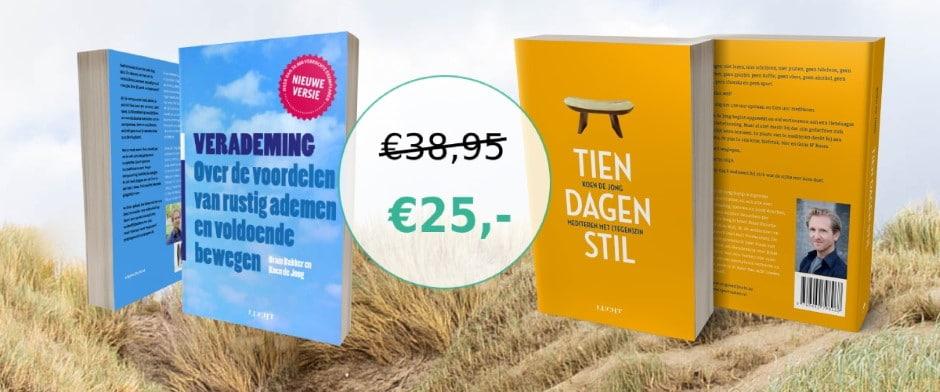 Hoge korting: Verademing + Tien dagen stil voor € 25,00