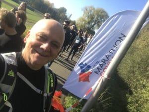 Met voldoende vertrouwen en rust in het hoofd de halve marathon van Gouda gelopen.