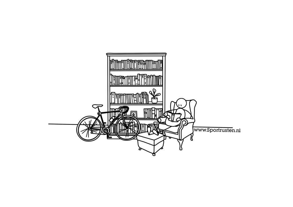 7. boekenkast & wielrennen