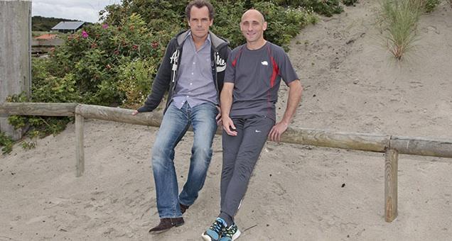 Bram Bakker en Simon van Woerkom van Runningtherapie